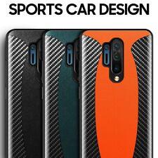 McLaren Style Luxury Carbon Fiber Genuine Leather Oneplus Sports Car Case Cover