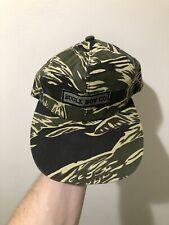 Vintage 80s 90s Bugle Boy Co Camo Long Bill Snapback Hat Cap RARE Hip Hop Rap