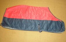 Dominick Sport Heavy Weight Stable Rug Red and Navy In Size 7'0""