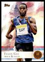 2012 TOPPS OLYMPICS COPPER TYSON GAY TRACK & FIELD #10 PARALLEL