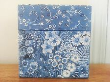 Lang Candles Square Floral Blues Gift Storage Trinket Box Sherri Buck Baldwin