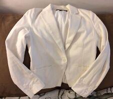 Amanda & Chelsea Women's White Blazer Jacket, Size 6