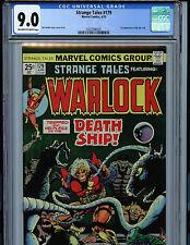 Strange Tales #179 Warlock Marvel Comics CGC 9.0 1975