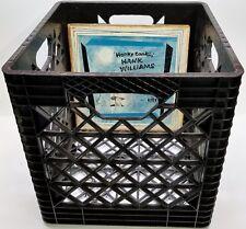 "1 Black Plastic Storage Crate for DJ 12"" Vinyl 33rpm LP Record Album Collections"