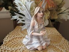 Fairyland Legends Winter Fairy figurine with crystal ball by Pacific Giftware