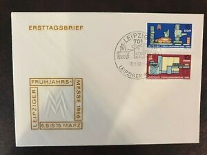 DDR Eastern Germany 1966 Leipziger Fruhjahrsmesse FDC- Nice Example