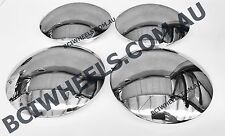 "4pc 15"" SMOOTHIE CHROME CAPS steel WHEELS RIMS Ford FALCON HOLDEN HQ HOTROD 5"""