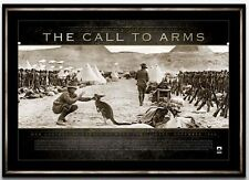 AUSTRALIAN ANZAC WAR PRINT FRAMED- THE CALL TO ARMS WW1 LIMITED EDITION PRINT