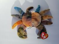 RARE Ty Beanie Babies CLAUDE The Crab ALL CAPS Tag Errors 1996 NO STAR! Retired