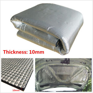 10mm Car Sound Deadener Heat Shield Noise Insulation Closed Cell Foam Mat 1x1.4M