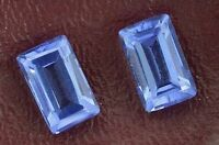ONE 10.5mm x 6.5mm Rectangle Baguette Cut Synthetic Lab Blue Tanzanite Sapphire
