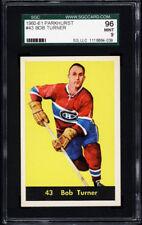 1960-61 Parkhurst #43 Bob Turner SGC 96