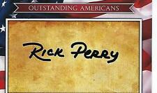 """Sec. Rick Perry Hand Signed """"Outstanding Americans"""" Autograph Card - Energy Dept"""