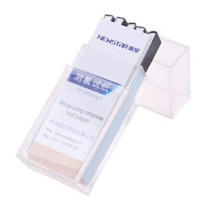 Chlorine Test Paper Strips Range 50-2000mg/lppm Color Chart CleaningJ_cd