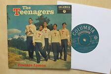 "THE TEENAGERS Featuring FRANKIE LYMON UK 7"" EP Columbia SEG 7694 1957"