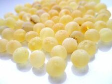 REAL RAW BALTIC AMBER HOLED LOOSE ROUND BEADS- 50 pcs + 1 PLASTIC SCREW CLASPS