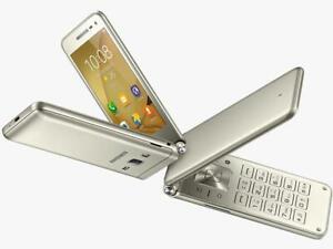 """Samsung Galaxy Folder 2 G1600 Dual Sim 3.8"""" Gold 16GB Phone By FedEx CN FREESHIP"""