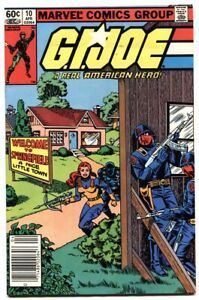G.I. JOE #10 1983- Marvel Comics comic book-Newsstand