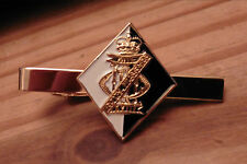 13th/18th Royal Hussars 3D Tie Slide, Gold Plated set on the South Africa Flash