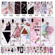Stylish Pattern Rubber Soft TPU Phone Case Cover For Huawei P20 Lite Y5 Y6 2018