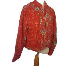 Phool ladies reversible jacket 100/% cotton long sleeves button fastening
