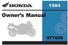 Honda 1984 VF700S Sabre Owner Manual 84