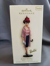 New ListingHallmark Ornament 2007 Roman Holiday Barbie New Barbie Series #14 Striped Dress