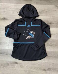 NHL Adidas San Jose Sharks Game Mode Sweatshirt Pullover Hoodie Nwt Size 2XL