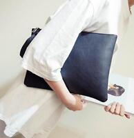 Women Clutch Evening Large Envelope Handbag PU Leather Shoulder Bag HOT Nice