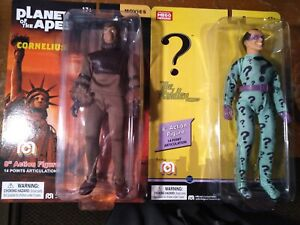 """Mego The Riddler D.C. Comics and Cornelius The Planet Of The Apes 8"""" Figures MOC"""