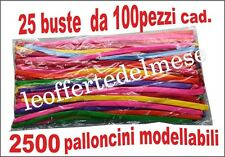 2500 palloncini modellabili professionali (25 buste da 100 pz. cadauna) OFFERTA