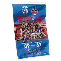 2016 PREMIERS Premiership AFL Western Bulldogs Cape Wall Flag Man Cave AFL16489B