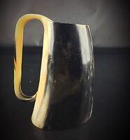 Vintage chope, verre ou vase en corne de bovin- Fait main