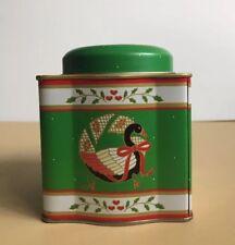 Vintage Holiday Christmas Metal Tin Box