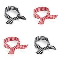 GINGHAM PRINT WIRE HEADWRAP IN 2 COLOURS