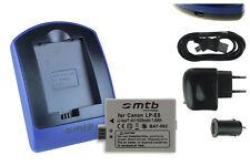 Chargeur+Batterie (USB) LP-E5 pour Canon EOS Rebel T1i, XS, Xsi