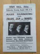 [late 19th century] Music programme - Mark Hambourg Tour
