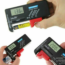 More details for lcd universal battery tester tool aa aaa c d 9v button cell volt tester checker