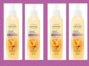 4 x Avon Naturals Hair Care  Detangling Spray Apricot & Shea 150ml