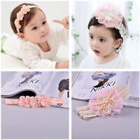 Kids Baby Girl Toddler Elastic Headband Hair Band Bowknot Lace Flower Headwear