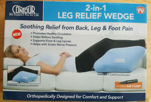 NEW Contour 2-in-1 Leg Relief Wedge Pillow, Orthopedically Designed Support