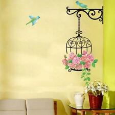 Decors Kids' Room Mural Living Room Wall Stickers Birds Cage Flowers