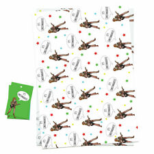 Novelty It's Christmas Wrap Wrapping Paper Sheet & Tags Funny Quirky Cool Design