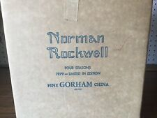 Set of 4 1979 Gorham Norman Rockwell Four Seasons Collector Plates New in Boxes