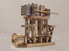 Moteur vapeur bicylindre type pilon 5,3 cm3 cylindrée STEAM MACHINE NEUF