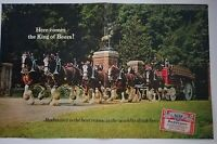 1967 Budweiser  king of beer Clydesdale horses 2 page centerfold ad