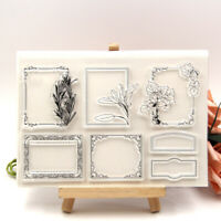 Photo Frame Transparent Clear Silicone Stamp DIY Scrapbooking Card Making Craft