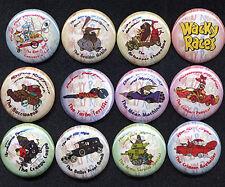 Wacky Races Twelve Badges Buttons Pins Set - so Cool
