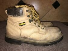Stanley Steel Toe Brown Leather Work Boots Sz 9.5 M FREE SHIPPING