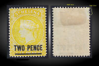 1880 ST. HELENA QUEEN VICTORIA OVP 2P ON 6P YELLOW MINT H SCT.30 SG. 28